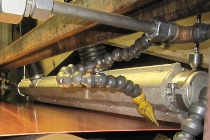 Air Knife Kupferband trocknen