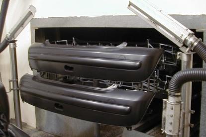 Air Knife Blassystem - Kunststoffteil abblasen