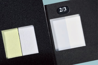 Phenolische Vergilbung - Testmaterialien