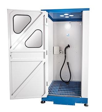 Kabine einer Luftdusche